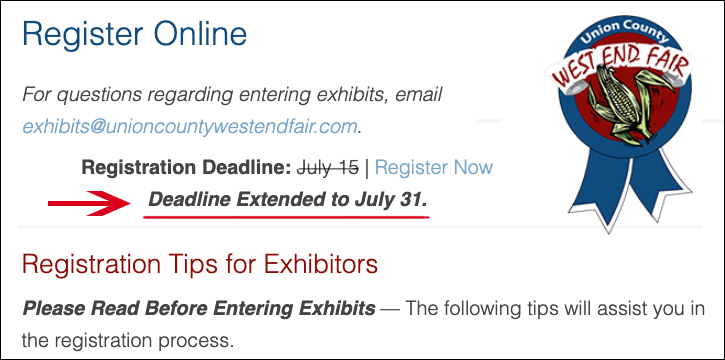 Registration Deadline Extended to July 31.